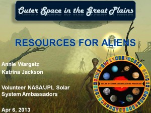 The Resources for Aliens title slide