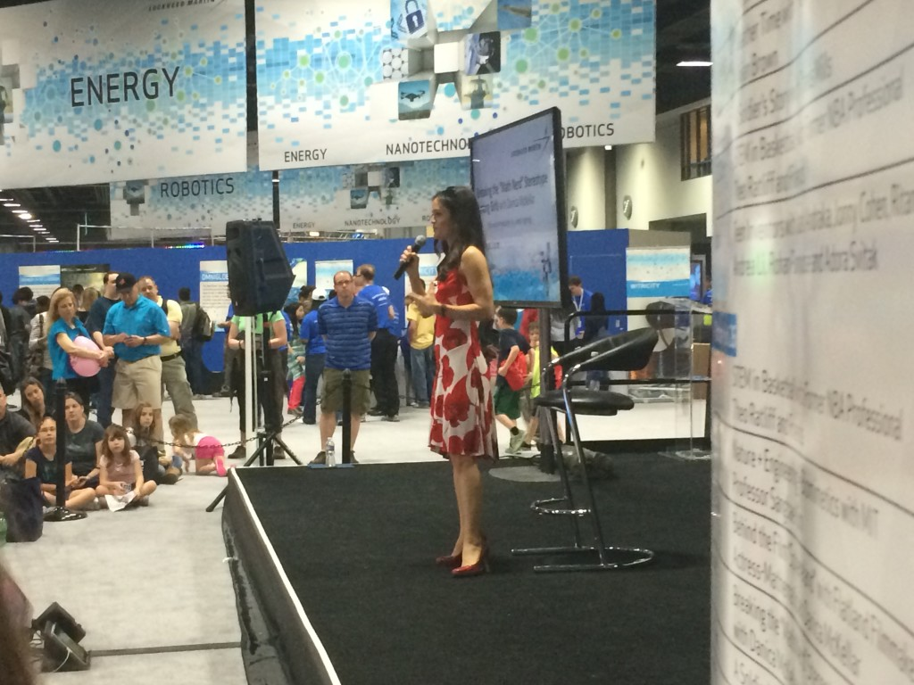 Danica McKellar on the Lockheed Martin stage