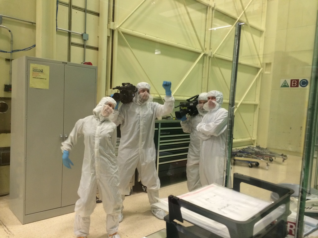 The crew thinks the cleanroom is a dance floor